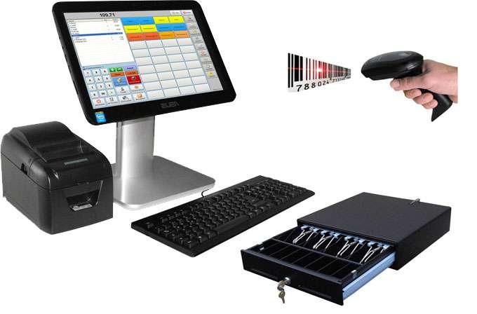 Einzelhandel Kassensystem mit Touchscreenfunktion.