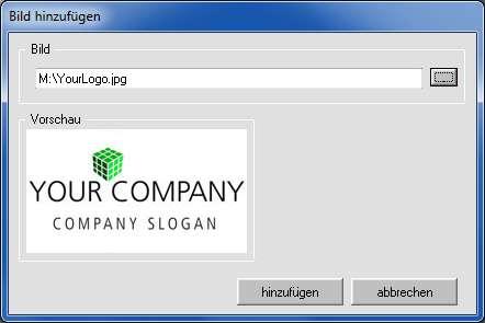 Logo hinzufügen