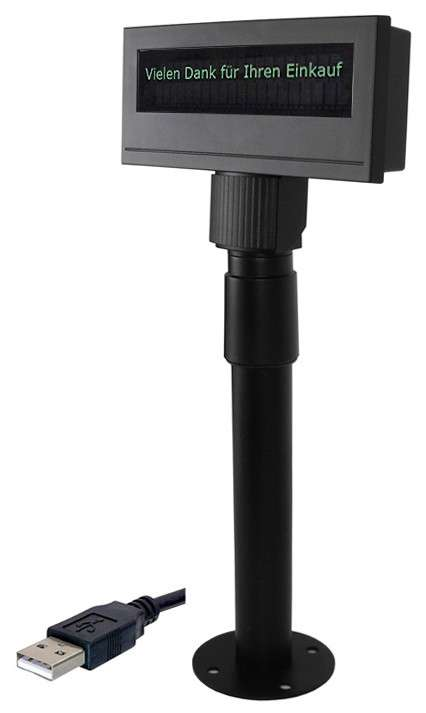 USB-Kundendisplay BA-63. Farbe: schwarz - 001