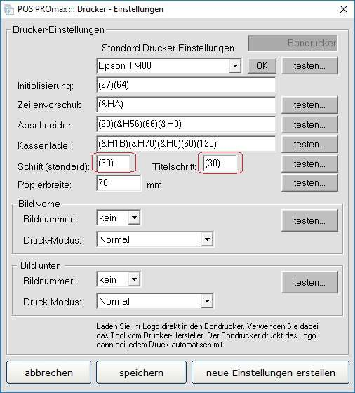 Screenshot: Einstellung der Schriftgröße im Gerätemanager