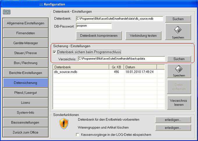 Datensicherung (Sicherungskopie)