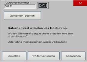 """Modus """"Gutscheine"""""""