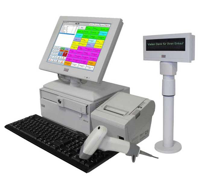 Kassensystem für den Einzelhandel inkl. Zubehör