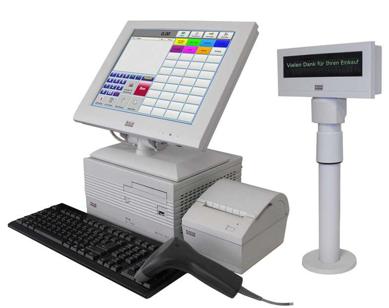 Kassensystem mit Touchscreen Monitor für den Einzelhandel