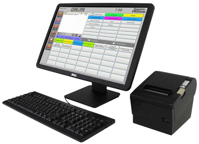 """20"""" Touchscreen Kassensystem für Gastronomie bzw. Restaurant bis max. 80 Tischen."""
