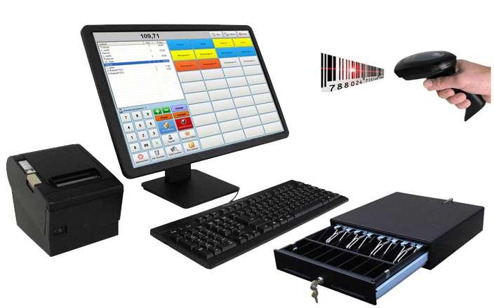 Kassensystem für den Einzelhandel inkl. Software und Zubehör