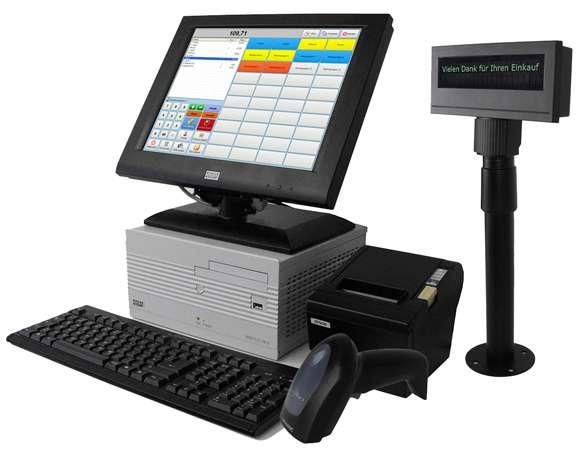 Abbildung: Komplettes Touchscreen Kassensystem für den Einzelhandel