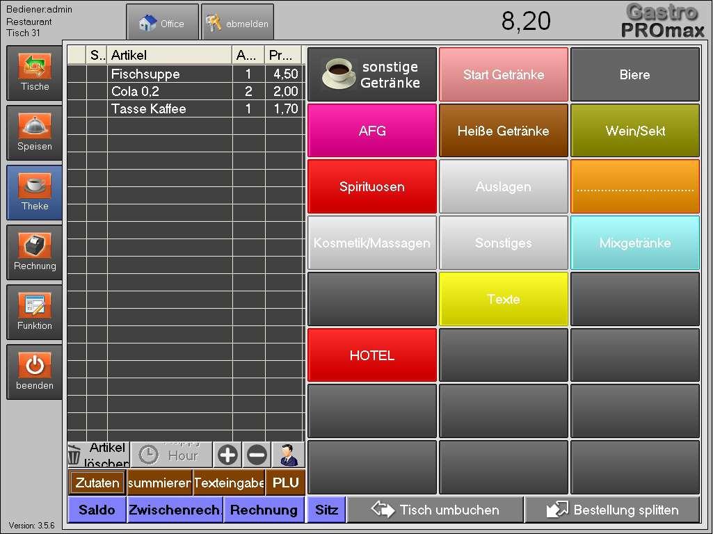 mobile (tablet-pc) touchscreen kasse fÜr restaurant - Gastronomie Mobile Küche