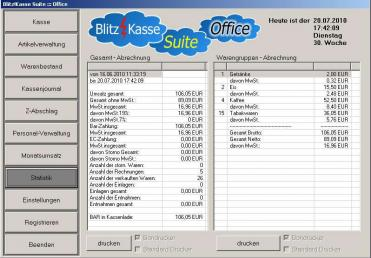 Software Handel PLUS 4.1 Aktueller Kassenstand